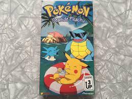 SEALED 1998 Pokemon Seaside Pikachu VHS Video Tape   Etsy   Pokemon,  Pikachu, Video tapes