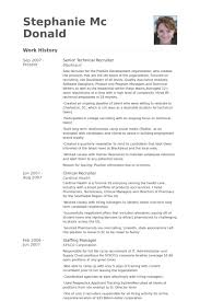 senior technical recruiter resume samples sample hr recruiter cover letter