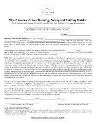 Aurora Surety Contractors Ohio Bond Performance