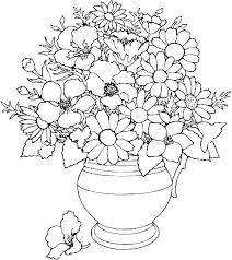 Printable Flower Coloring Pages Flowers Book Beautiful Pictures From