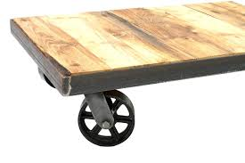 vintage industrial trolley coffee table swinging monkey antique mg tables large railroad baggage cart