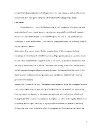 Personal Leadership Essay Major Magdalene Project Org