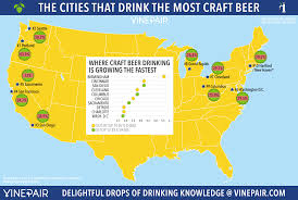 the cities that drink the most craft beer [map] vinepair Superhero Map the american cities that drink the most craft beer super hero map minecraft