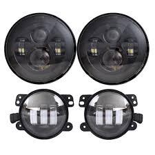 Dot Approved Led Lights Us 113 71 17 Off Dot Approved 2 Pcs 7 Led Headlights 2 Pcs 4 Led Fog Lights For Jeep Wrangler 97 2017 Jk Tj Lj In Car Light Assembly From