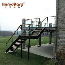 prefab outdoor wood composite stair steps stainless steel glass deck stairs home depot
