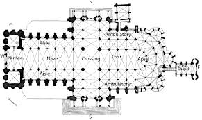Chartres Cathedral Floor Plan By French Moments  AP Art History Cathedral Floor Plans