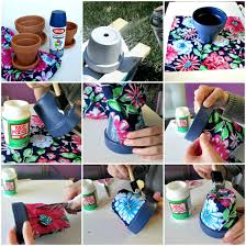 how to paint a clay flower pot
