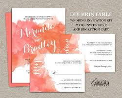 343 best printable wedding invitations and coordinated products Wedding Invitation Kits Coral coral watercolor wedding invitation kit by idesignstationery on etsy $21 95 wedding invitation kits can insert picture