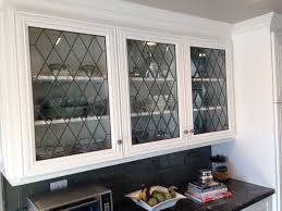 kitchen cabinet glass inserts lovely we added new leaded beveled glass panels to these new cabinet