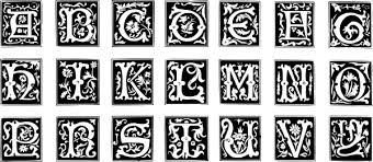 Decorative Letter Set Clip Art Free Vector In Open Office Drawing