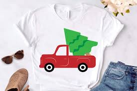 Freesvg.org offers free vector images in svg format with creative commons 0 license (public domain). Christmas Tree Red Truck Svg Christmas Graphic By Lillyrosy Creative Fabrica