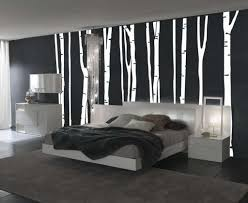 black and white bedroom decor. Bedroom:Excellent Black White Bedroom Decor With Plain Fabric Blanket And Headboard Also