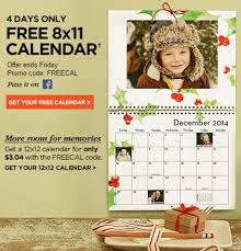 8x11 Calendar Free Photo Calendar From Shutterfly Frugal Minded Mom