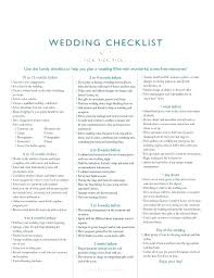 Weekly Checklist Template 9 Free Sample Example Format Wedding Day