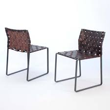 suite ny for the woven side chair collection designed by mark albrecht and more leather and steel seating stackable dining chairs and contermporary
