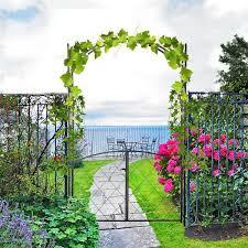 outsunny 84 75 x 19 metal garden arch