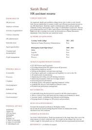 no work experience HR assistant resume ...