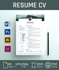 Resume Design Templates Unique Graphic Design Cv Template Baycabling