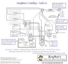 eenybear s little olde guitar mod shoppe here s a diagram mod iv above showing all the use of a push pull pot for both the volume control and the neck tone control like mod iii the bridge