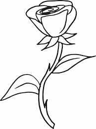 Small Picture Captivating Coloring Pages Draw A Rose For Kids 18 mosatt