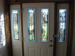 single front doors with glass. Stained Glass Inserts Single Front Doors With White Wooden Frames And Double Regarding Sizing Strong T