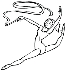 gymnastics coloring pages gymnastic amazing ribbon individual all around rhythmic in gymnastic coloring page amazing ribbon gymnastics coloring pages