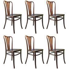 vintage dining chairs from thonet 1930s set of 6