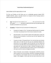 Mutual Confidentiality Agreement 100 Mutual Confidentiality Agreement Templates Free Sample 33