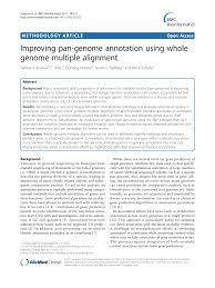 Pdf Improving Pan Genome Annotation Using Whole Genome