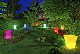 garden lighting design ideas. colorful outdoor lights for garden design and yard landscaping lighting ideas e
