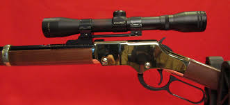 simmons 22 mag. golden boy with henry scope mount and simmons 22 mag 4x