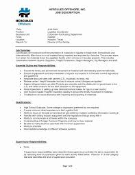 Logistics Job Description Resume Best Of Resume Cover Letter