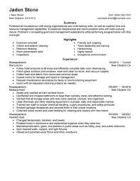 Resume Tips for Houseperson