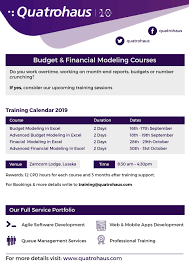 09 09 2019 Budget And Financial Modeling Courses Ad