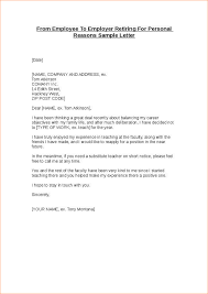 retirement letter to employer from employee to employer retiring for personal reasons 1
