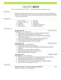Hotel Housekeeping Resume Cv Template Lodge Suidakra New Housekeeper Resume