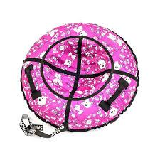 <b>Тюбинг</b> (ватрушка) <b>RT Собачки</b> на розовом, диаметр 118 см ...