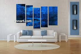 contemporary canvas wall art 5 piece huge pictures living room multi panel canvas abstract canvas art prints contemporary teal flower i canvas wall art