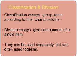 classification example of division and classification essay