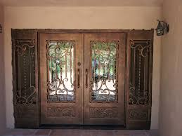 front door with sidelightsIron Double Entry Doors With Sidelights Scottsdale AZ  VMW