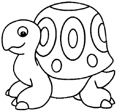 Small Picture Turtle Coloring Pages for Kids Preschool and Kindergarten