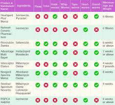 Flea Tick Prevention Comparison Chart Heartworm Preventatives For Dogs Comparison Chart