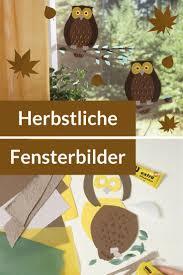 Herbst Fensterbild Selber Basteln Owl Drawings Fensterbilder