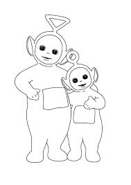 Due Teletubbies Disegni Da Colorare Cartoni Animati Per Bambini