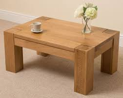 kuba solid oak wood coffee table unit wooden living room furniture