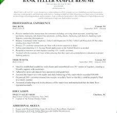 Lead Teller Resume Amazing Bank Teller Resume Sample Entry Level Mmventuresco