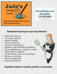jojo s cleaning service flyer home cleaning services jojo s cleaning service flyer