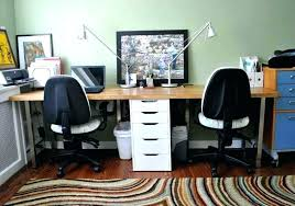 home office with two desks. Decoration: Two Person Home Office Desk Elegant Desks For 2 Computers Regarding 19 From With