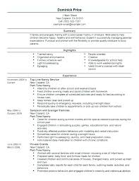 responsibilities of a nanny for resumes nanny resume example sample samples pertaining to examples
