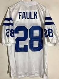 Details About Reebok Nfl Jersey Indianapolis Colts Marshall Faulk White Sz Large